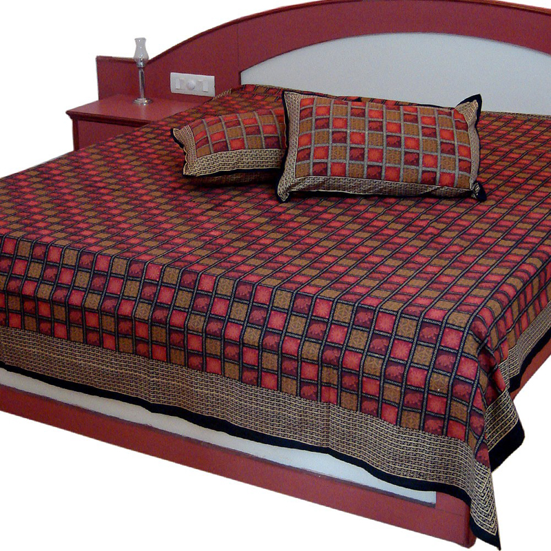 Bed sheets raipur diwan set double bed sheets in for Double bed diwan